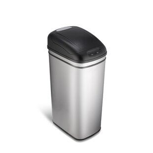 stainless steel 11 gallon motion sensor trash can - Stainless Steel Kitchen Trash Can