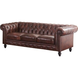 Leather Tufted Sofas You Ll Love Wayfair