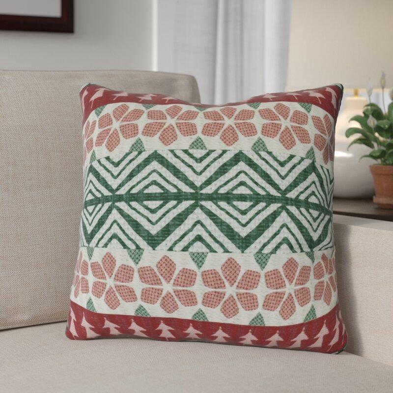 The Holiday Aisle Fair Isle Throw Pillow & Reviews | Wayfair