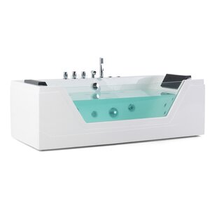 1740 Mm X 790 Mm Single Ended Whirlpool Bathtub With 10 Jets by Belfry Bathroom