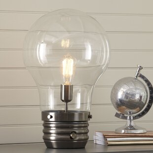 Edison bulb table lamp wayfair edison 18 table lamp with globe shade greentooth Images