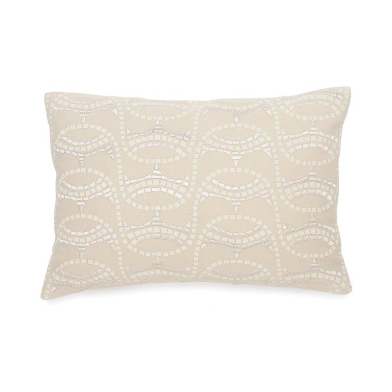 BiniChic Terracotta Embroidered Mosaic Decorative Cotton Throw Simple Terracotta Decorative Pillows