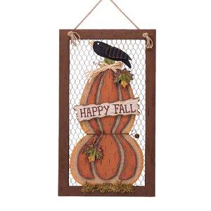 Wooden Frame Pumpkin Wall Decor