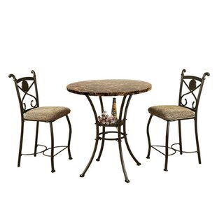 Boylan 3 Piece Counter Height Dining Set
