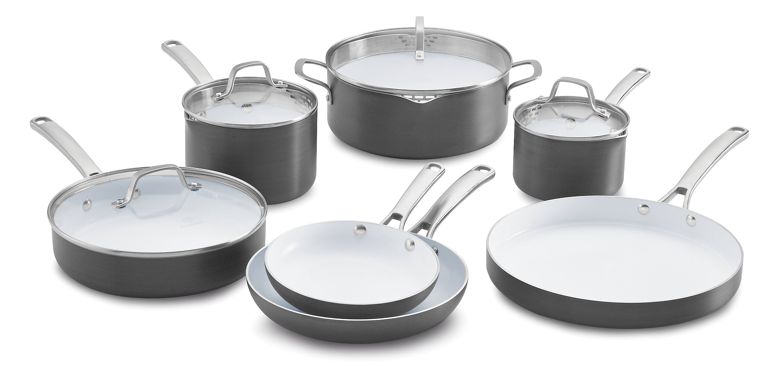 Calphalon Classic Ceramic 11 Piece Non-Stick Cookware Set & Reviews ...