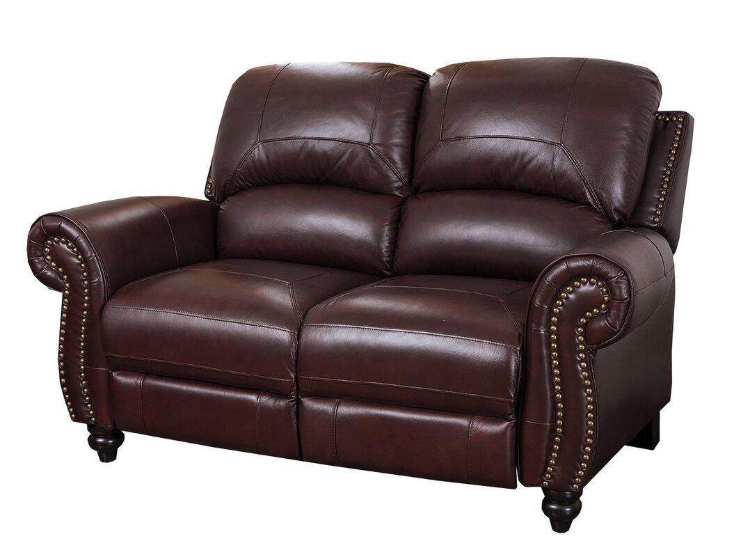 Kahle Leather Reclining Loveseat  sc 1 st  Wayfair & Darby Home Co Kahle Leather Reclining Loveseat u0026 Reviews   Wayfair islam-shia.org