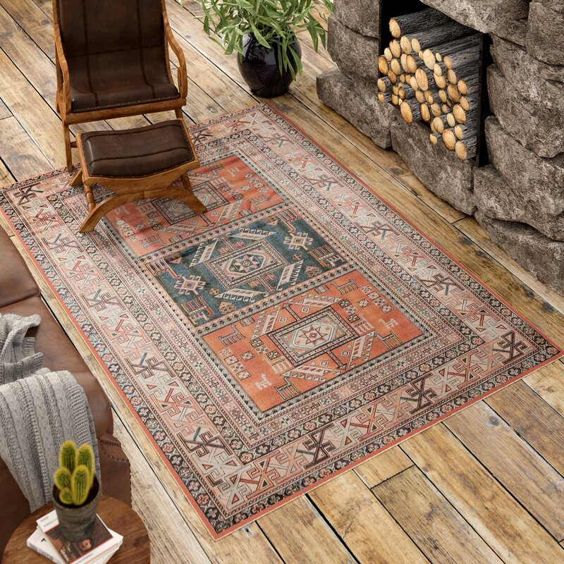 Loon Peak Ovid Orange Area Rug Amp Reviews Wayfair