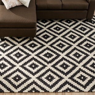 Obadiah Hand Tufted Wool Black Area Rug