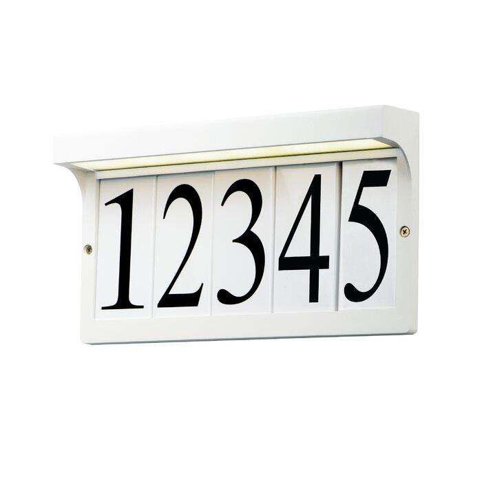Light Frame 1 Line Wall Address Plaque