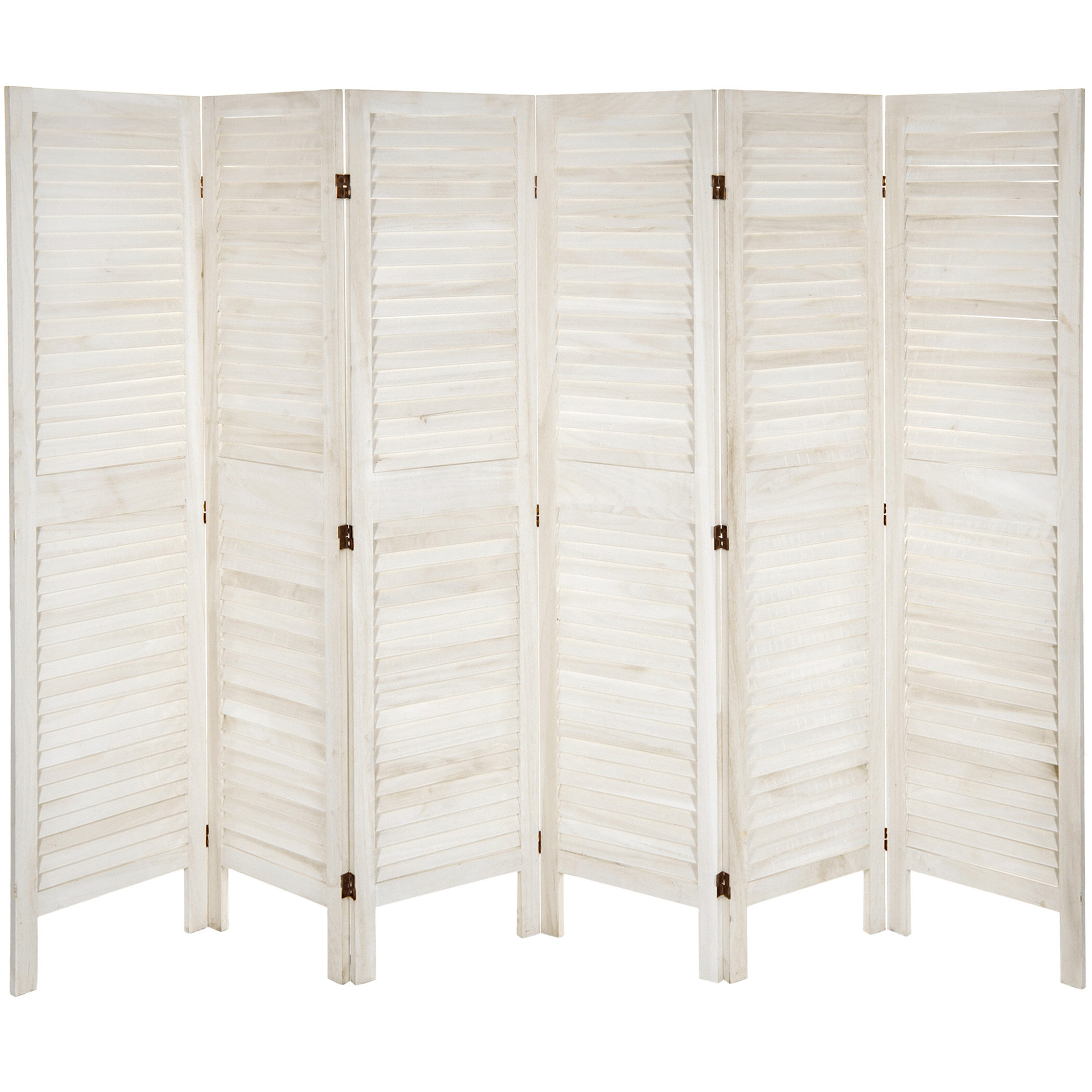 Beachcrest Home Ares 6 Panel Room Divider Reviews Wayfair