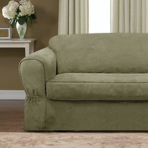 Darby Home Co Bearup Barras Box Cushion Loveseat Slipcover