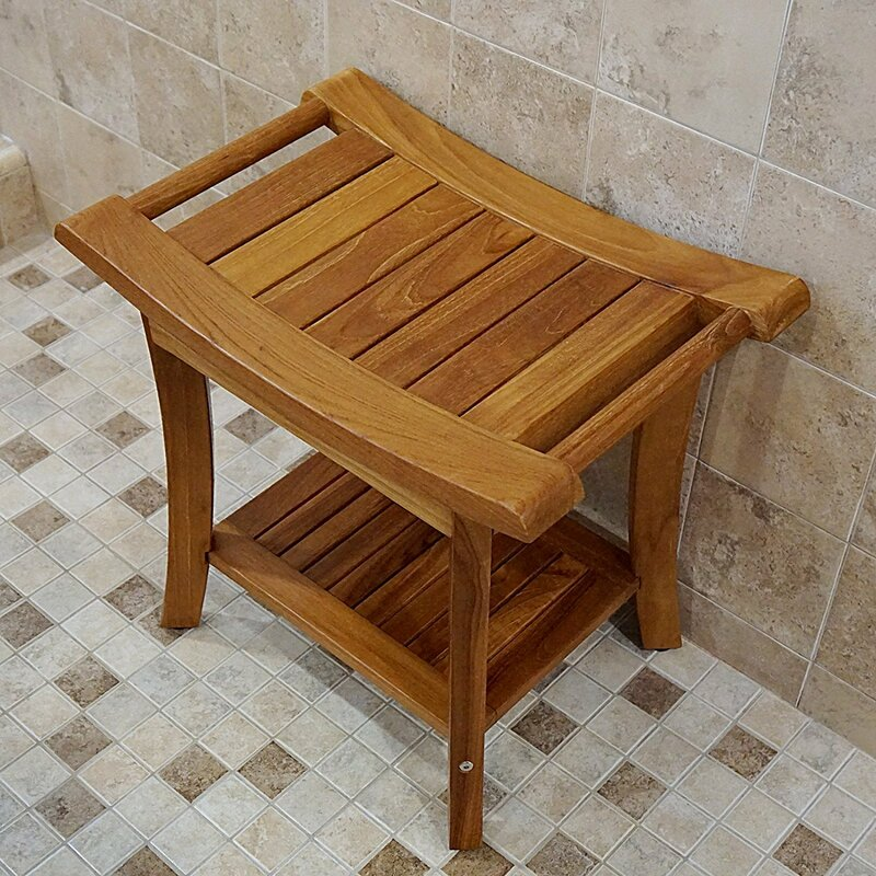 Welland Industries LLC Deluxe Teak Glide Shower Seat & Reviews | Wayfair