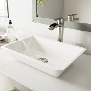 Phoenix Stone Rectangular Vessel Bathroom Sink With Faucet