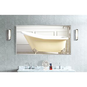 Wide Metal Double Bathroom/Vanity Mirror