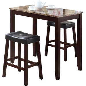 Daisy 3 Piece Counter Height Pub Table Set by A..