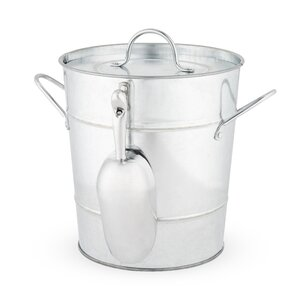 Country Home Galvanized Steel Ice Bucket