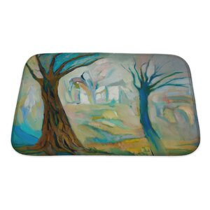 Art Alpha Two Dead Trees in the Wood Bath Rug