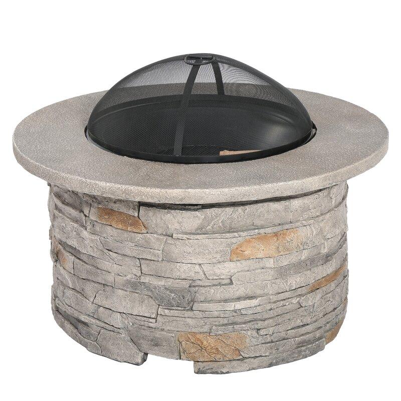 Winnett Faux Stone Wood Burning Fire Pit Table & Reviews ...