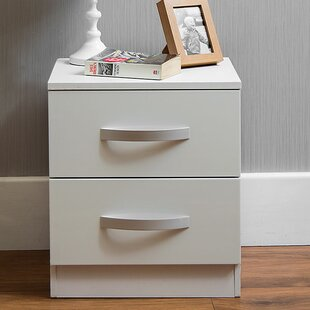 Us Shipping Assemble Storage Cabinet Bedroom Bedside Locker Double Drawer Nightstand Household Accessories Decoration Home Furniture Bedroom Furniture