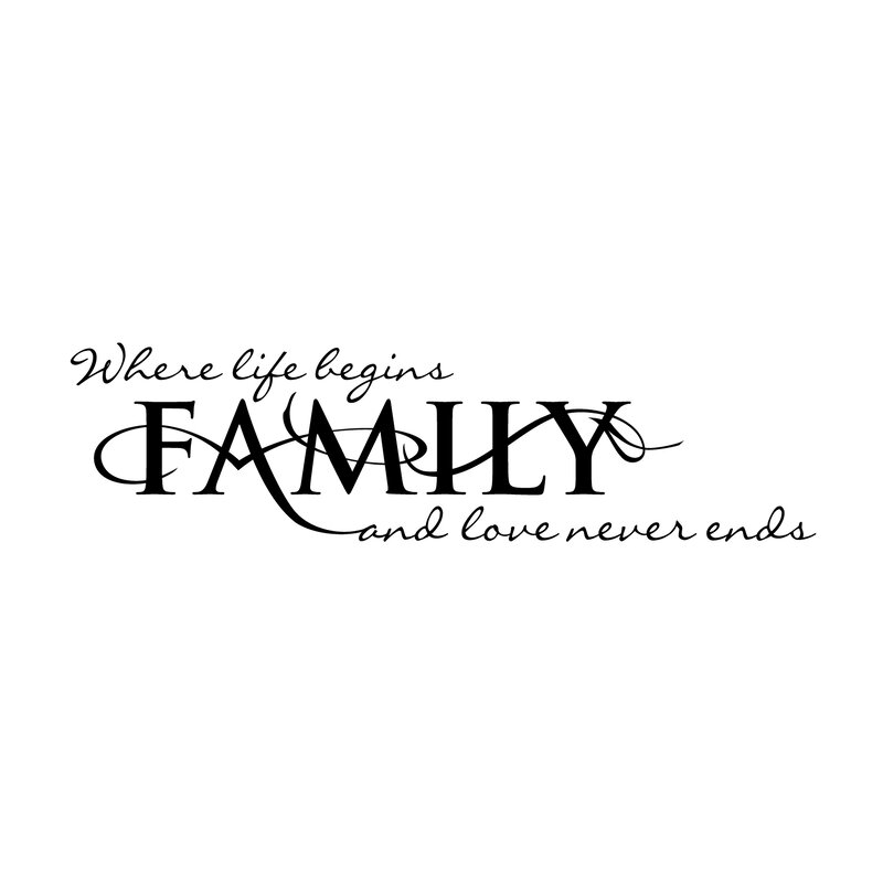 firesidehome family - where life begins and love never ends wall