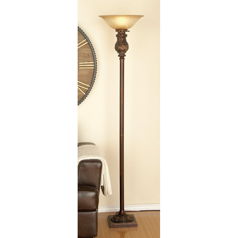 Cole Grey Clic Elegance Metal Gl 70 Torchiere Floor Lamp Reviews Wayfair