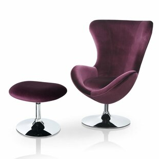 Kirree Contemporary Balloon Chair And Ottoman