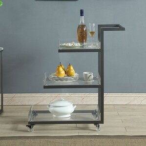 Caitlyn 3 Tier Bar Cart by Wade Logan