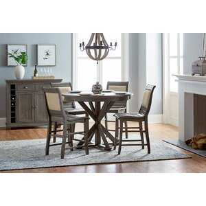 Height Of Dining Room Table ellwood black 5 pc bar height dining set Epine Round Counter Height Dining Table