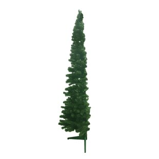 half shape 5ft green artificial christmas tree with stand