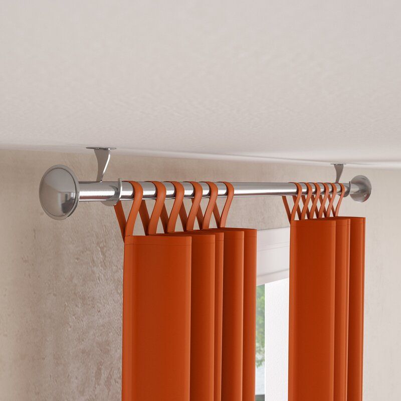 Christiansburg Indoor Outdoor Single Curtain Rod