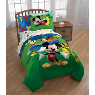 disney mickey mouse club house adventure 2 piece twin reversible comforter set - Mickey Mouse Bedding