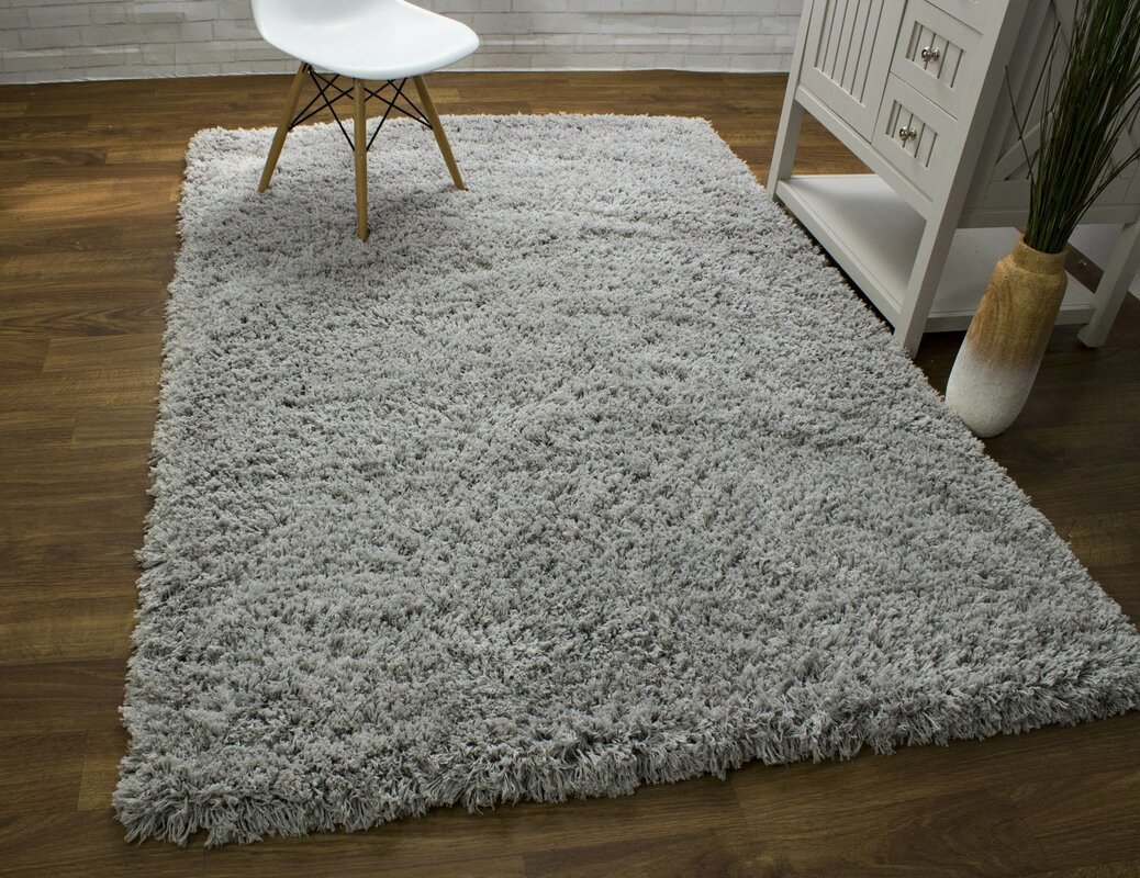 Cloud Microfiber Ultra Soft Silver Area Rug