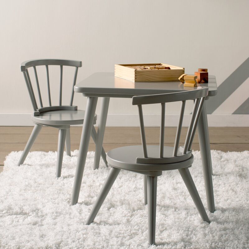 Justine Windsor 3 Piece Table and Chair Set by Delta & Viv + Rae Justine Windsor 3 Piece Table and Chair Set by Delta ...
