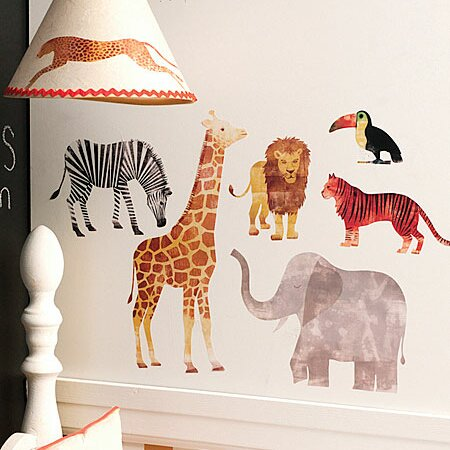 wallies wild animals wall decal & reviews | wayfair