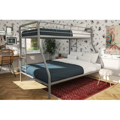 Birch Lane Heritage Evan Twin Low Loft Slat Bed With Bookcase