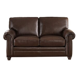 Coventry Top Grain Leather Loveseat by Westland and Birch