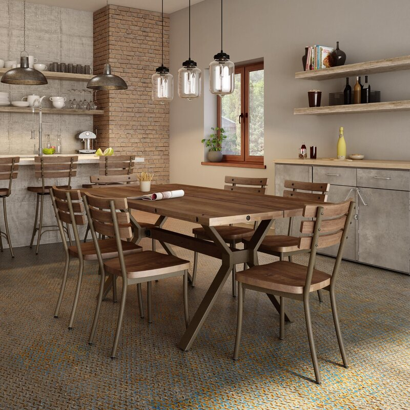 Great Darcelle 5 Piece Industrial Dining Set