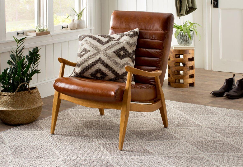 Hans Leather Armchair Amp Reviews Allmodern