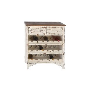 Edgecomb Wood 2 Drawer Wine Cabinet