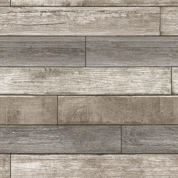 Nu 18 X 205 Reclaimed Wood Plank Wallpaper Roll Reviews