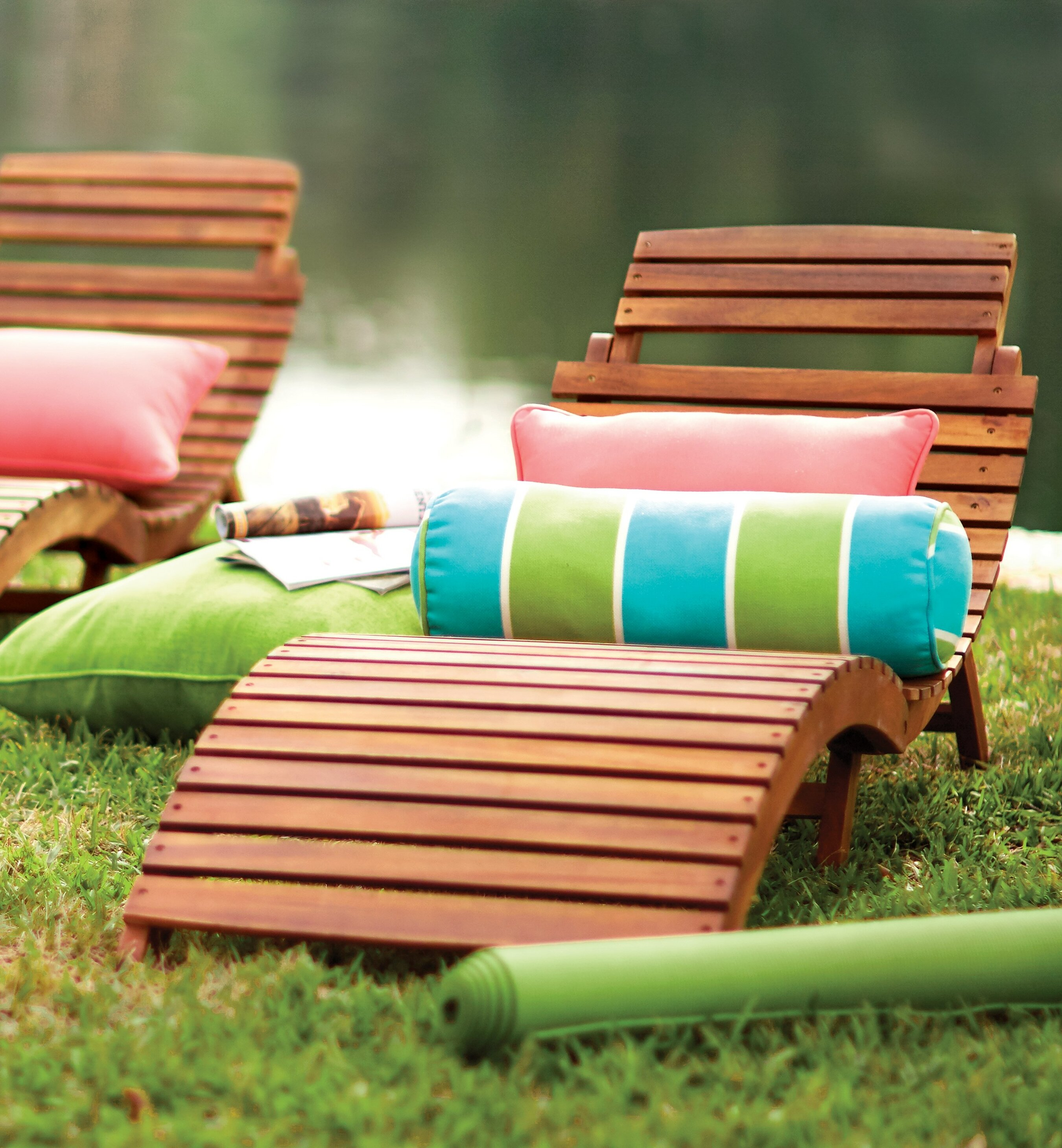 lounge walmart chaise lounger seats double wooden patio stripe home chairs outdoor mainstays decoration