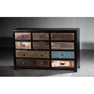 Marne Wooden 10 Drawer Sideboard