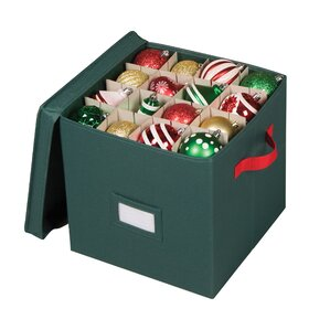 Holiday 64 Compartment Cube Ornament Storage