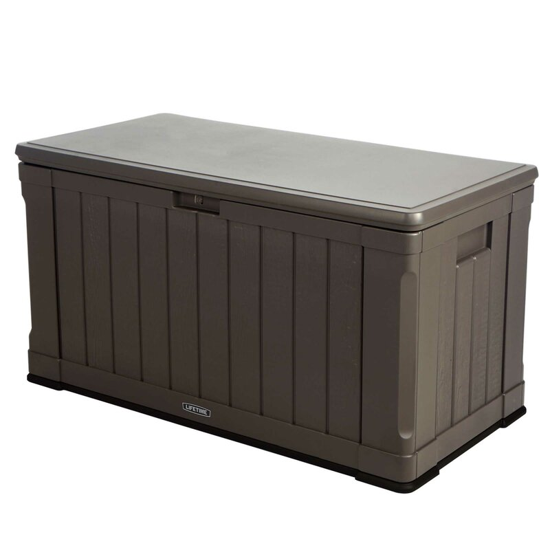 plastic storage bench