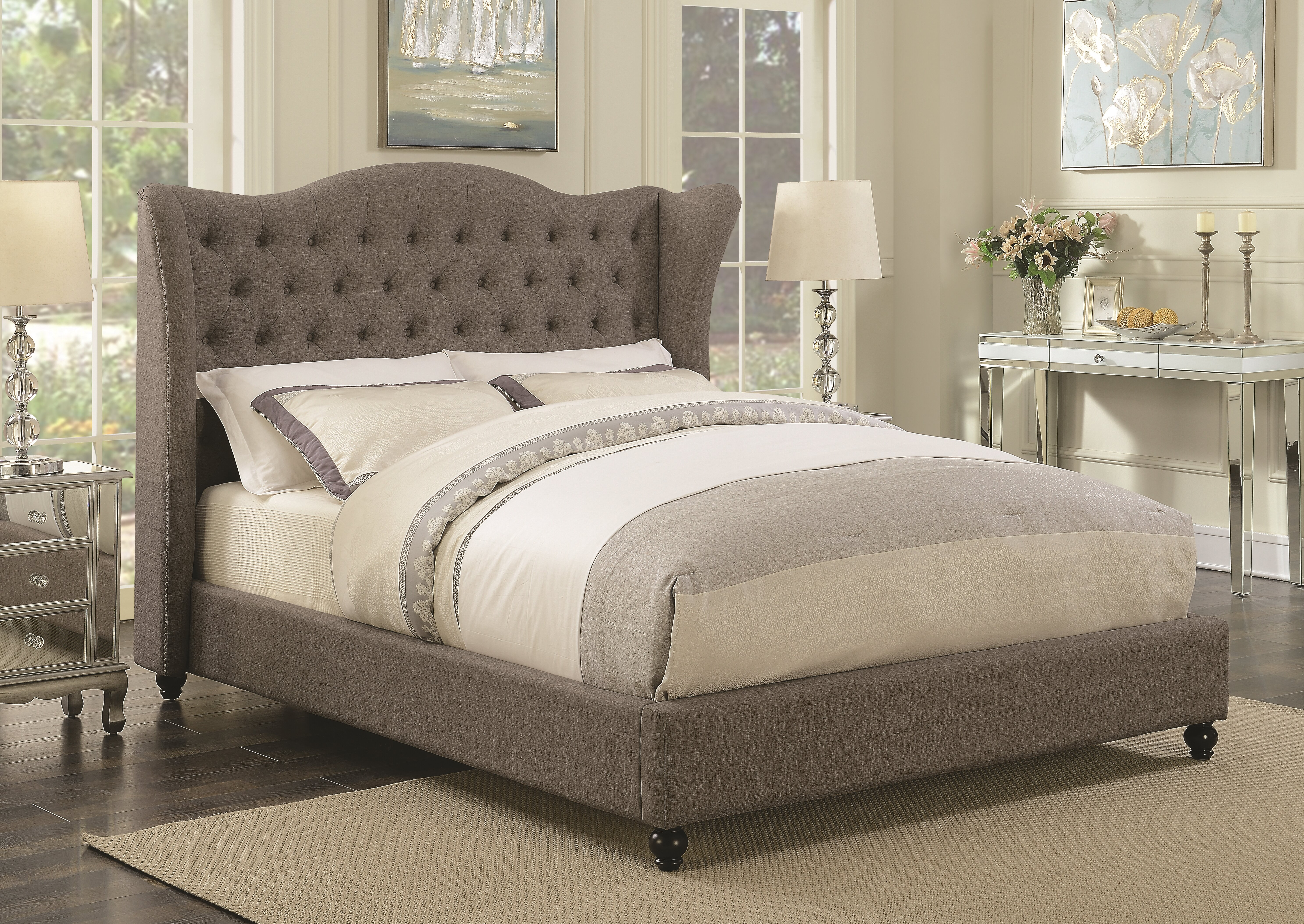 Darby Home Co Pipers Upholstered Panel Bed Wayfair