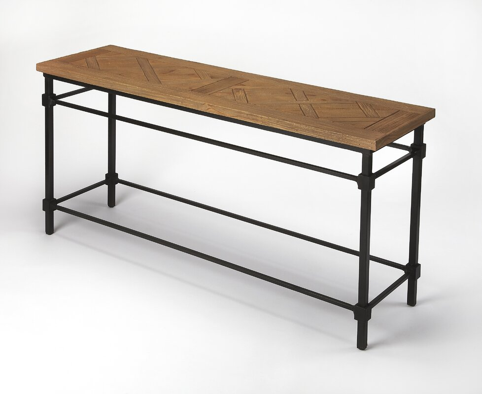 Rosabel Iron and Wood Console Table. 17 Stories Rosabel Iron and Wood Console Table   Reviews   Wayfair