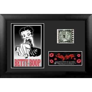 betty boop mini filmcell presentation framed graphic art