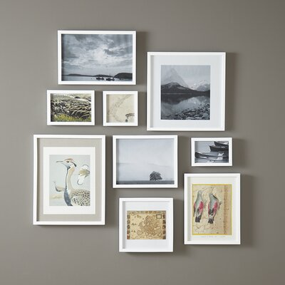 Winston Porter Lecenta Wood Gallery Picture Frame Finish: White, Size: 2 H x 3 W