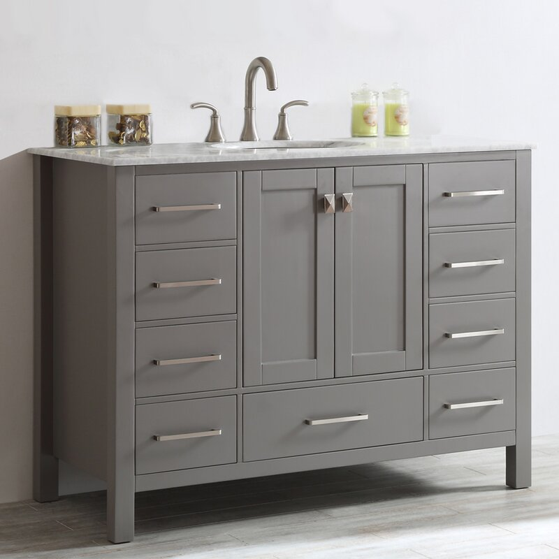 beachcrest home newtown 48 single bathroom vanity set reviews rh wayfair com bathroom vanities 48 inches wide bathroom vanities 48 inch single sink