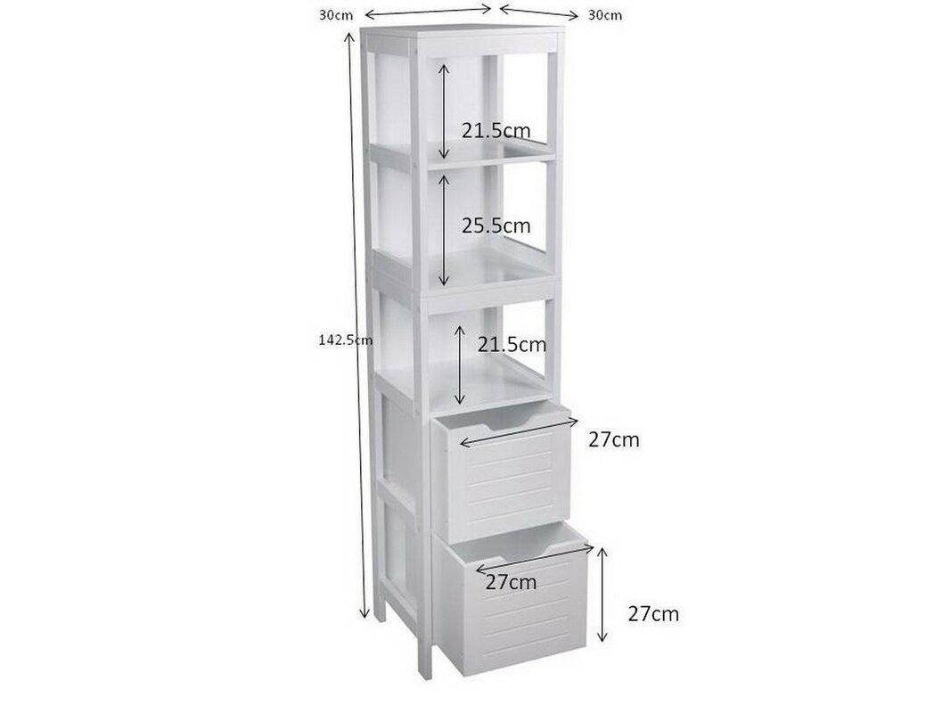Hokku designs ashmore 30cm x freestanding tall bathroom cabinet reviews for Tall bathroom cupboards freestanding